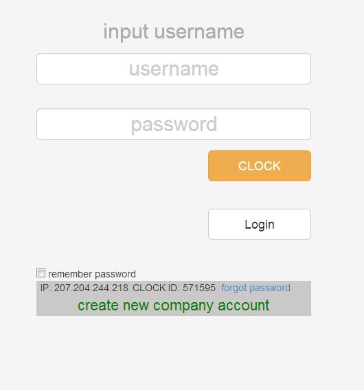 OpenTimeClock full screenshot